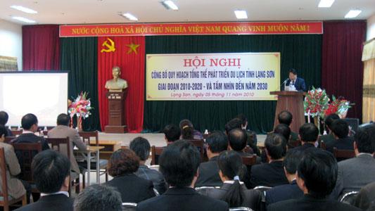 Lạng Sơn: Công bố Quy hoạch tổng thể phát triển du lịch, giai đoạn 2010 - 2020 và tầm nhìn đến năm 2030
