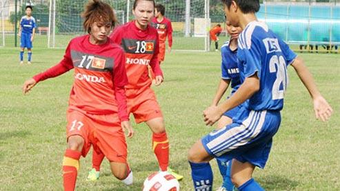 Bóng đá nữ Việt Nam kết thúc tập luyện trong nước