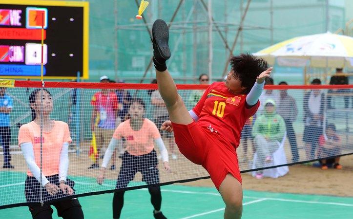 Đá cầu lập kỷ lục, đoàn thể thao Việt Nam băng băng về đích