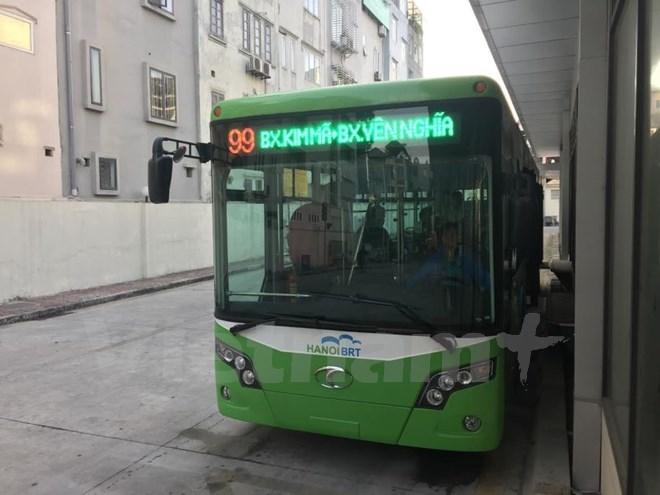 Hà Nội vận hành buýt nhanh BRT từ 1/1/2017, miễn phí một tháng