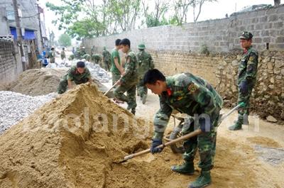 Trung đoàn 123 học Bác bằng việc làm thiết thực