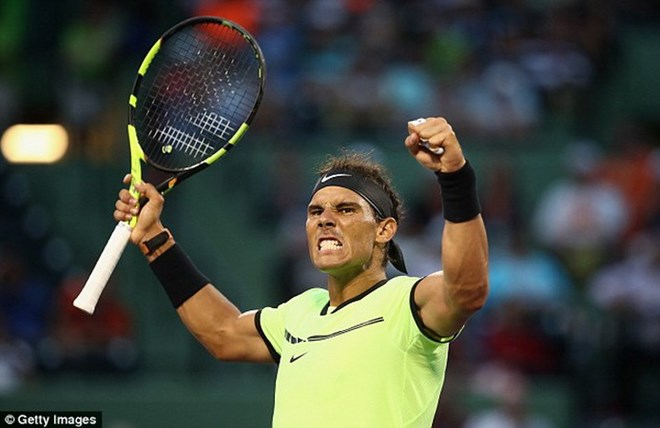 Miami Open: Nadal thua set trắng, Federer đại chiến Del Potro