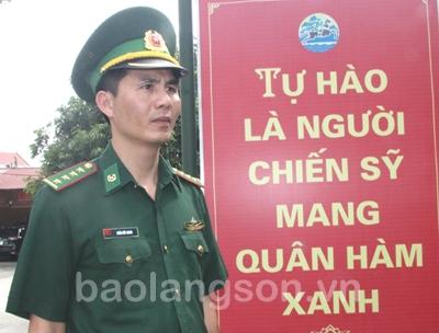 Người chiến sỹ biên phòng tận tụy với nhân dân