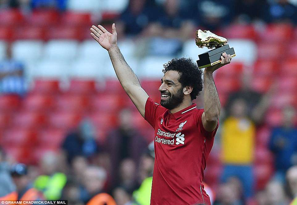 """Salah giành """"Chiếc giày vàng"""" Ngoại hạng Anh 2018"""
