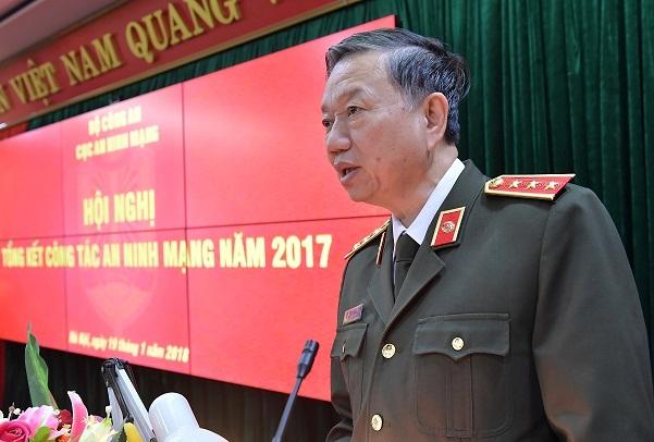 Bộ trưởng Tô Lâm 'đặt hàng' lực lượng an ninh mạng