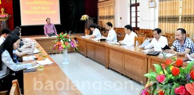 Họp báo công bố Chương trình tổng thể Tuần Văn hoá- Du lịch, Lạng Sơn năm 2018