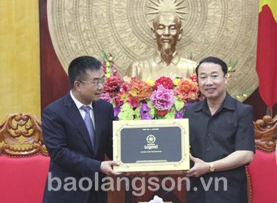 Lãnh đạo UBND tỉnh Lạng Sơn làm việc với đoàn đại biểu thành phố Sùng Tả (Quảng Tây, Trung Quốc)