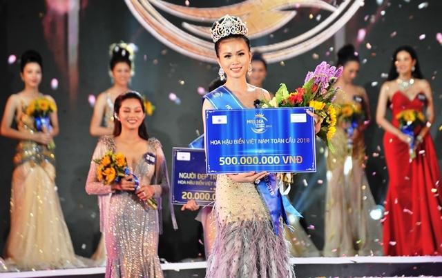 Nguyễn Thị Kim Ngọc đoạt vương miện Hoa hậu biển Việt Nam toàn cầu 2018