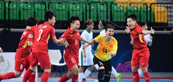 Việt Nam lọt vào bán kết Giải futsal nữ châu Á