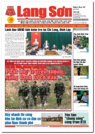 Báo Lạng Sơn số 5192 ngày 03-03-2017
