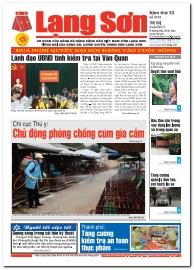 Báo Lạng Sơn số 5193 ngày 06-03-2017