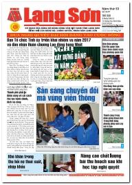 Báo Lạng Sơn số 5197 ngày 10-03-2017