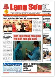 Báo Lạng Sơn số 5198 ngày 13-03-2017