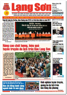 Báo Lạng Sơn số 5207 ngày 24-03-2017