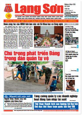 Báo Lạng Sơn số 5209 ngày 28-03-2017