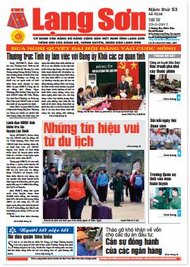 Báo Lạng Sơn số 5210 ngày 29-03-2017