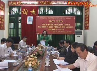 Họp báo tuyên truyền Đại hội lần thứ XIII MTTQ Việt Nam tỉnh Lạng Sơn (2014 - 2019)