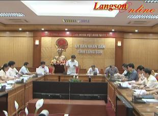 UBND tỉnh Lạng Sơn: Họp thường kỳ tháng 5 năm 2014
