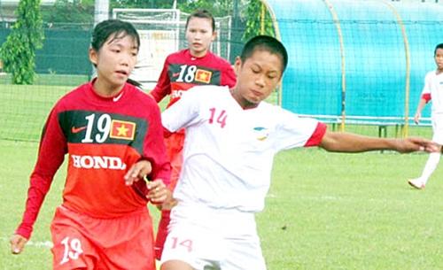 Đội tuyển U14 nữ thắng Campuchia 8-0