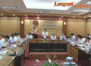 UBND tỉnh Lạng Sơn: Tổ chức phiên họp Thường kỳ tháng 6 (lần 2) năm 2014