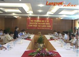 Bộ trưởng Bộ Y tế kiểm tra công tác phòng, chống dịch bệnh tại lạng Sơn