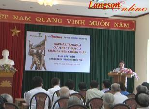 250 suất quà cho cựu thanh niên xung phong trên địa bàn tỉnh