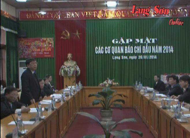 Tinh ủy gặp mặt các cơ quan báo chí nhân dịp đón xuân Giáp Ngọ 2014