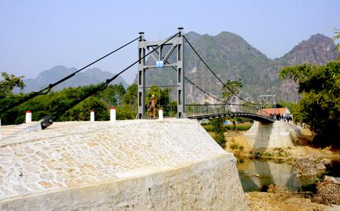 Lo ngại chất lượng các cầu treo trên địa bàn tỉnh
