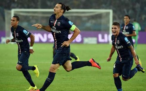 Ibrahimovic ghi cú đúp mang Siêu cúp về cho PSG