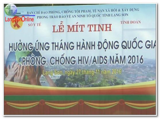Mít tinh hưởng ứng Tháng hành động Quốc gia phòng, chống HIV/AIDS năm 2016