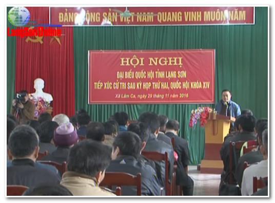 Trưởng Đoàn đại biểu quốc hội tỉnh Lạng Sơn tiếp xúc cử tri tại xã Lâm Ca, huyện Đình Lập