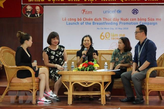 Chỉ có 22% trẻ em ở Việt Nam được bú sữa mẹ đến 2 tuổi