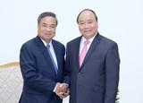 Thủ tướng tiếp Trưởng Ban Tổ chức Trung ương Lào
