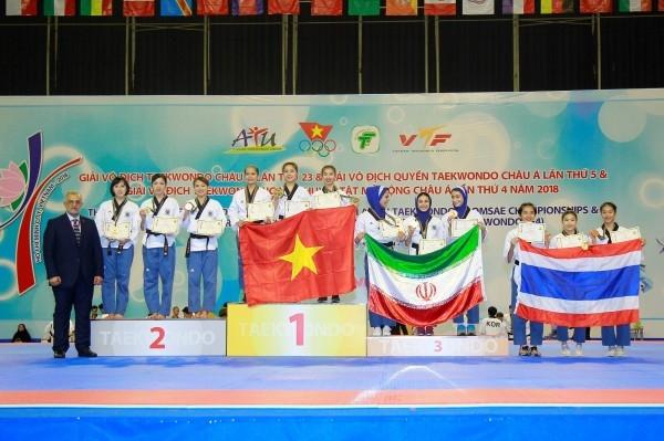 Việt Nam giành hai Huy chương Vàng tại Giải vô địch quyền taekwondo châu Á