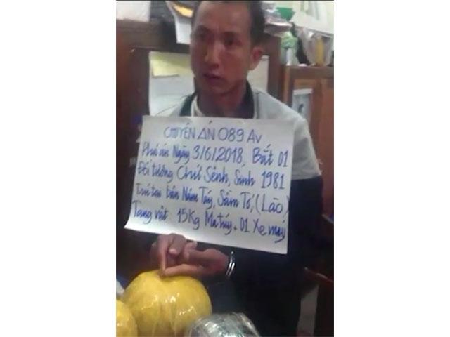 Bắt đối tượng người Lào vận chuyển 15 kg ma túy về Việt Nam tiêu thụ