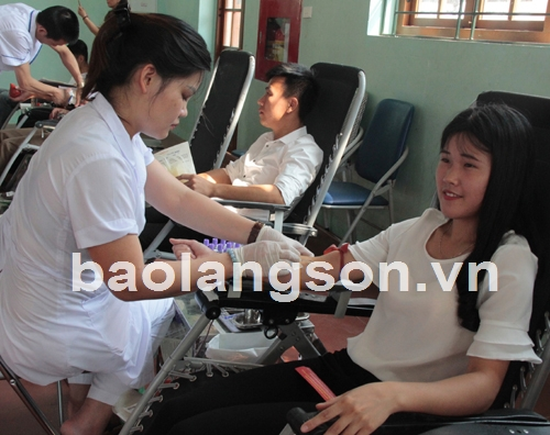 Tiếp nhận 250 đơn vị máu hiến tình nguyện