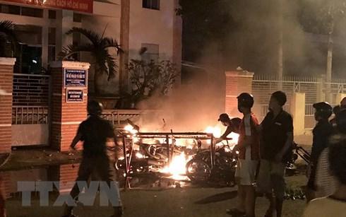 Bình Thuận: Tạm giữ 12 đối tượng quá khích, gây rối tại Phan Thiết