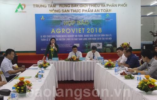 """Họp báo """"Tuần lễ quảng bá sản phẩm na Chi Lăng và đặc sản Lạng Sơn năm 2018 tại Hà Nội"""""""