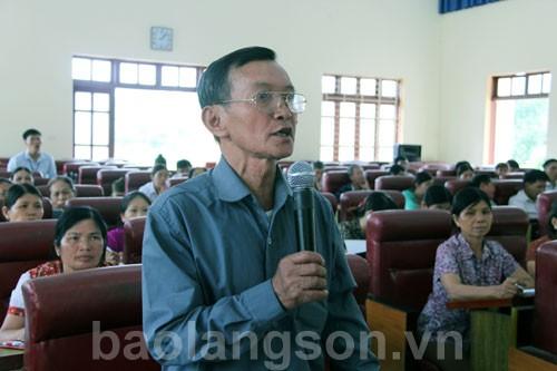 Đại biểu Quốc hội tỉnh tiếp xúc cử tri huyện Bình Gia, Đình Lập