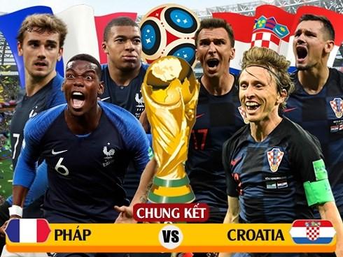 Dự đoán tỉ số trận Pháp vs Croatia: Gà trống vô địch World Cup 2018?