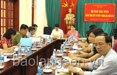Hội nghị trực tuyến toàn quốc sơ kết công tác tư pháp 6 tháng đầu năm
