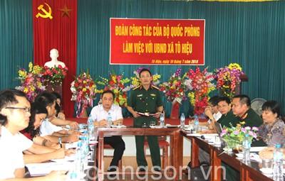 Đoàn công tác Bộ Quốc phòng kiểm tra thực hiện các Chương trình mục tiêu Quốc gia tại huyện Đình Lập và Bình Gia