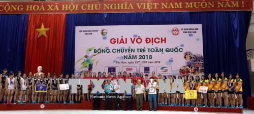 Trên 300 vận động viên tham dự Giải bóng chuyền trẻ toàn quốc năm 2018 
