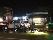 Bốn xe ôtô đâm liên hoàn khiến 12 người thương vong ở Đồng Nai