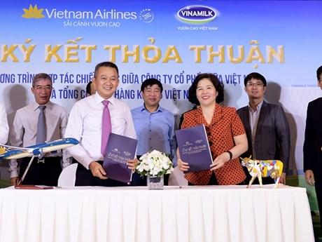 Vietnam Airlines 'bắt tay' Vinamilk hợp tác chiến lược, thương hiệu