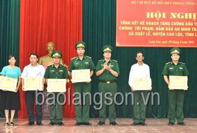 Tổng kết phòng, chống tội phạm, đảm bảo an ninh trật tự địa bàn xã Xuất Lễ, huyện Cao Lộc