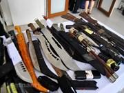 Hà Nội: Ngăn chặn gần 100 côn đồ mang hung khí định ẩu đả trong đêm