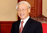 Tổng Bí thư Nguyễn Phú Trọng chúc mừng Đảng Nhân dân Campuchia