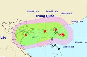 ATNĐ có thể mạnh lên thành bão, hướng vào Quảng Ninh, Hải Phòng