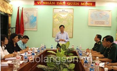 Hội đồng phối hợp phổ biến, giáo dục pháp luật tỉnh làm việc với Bộ Chỉ huy Bộ đội Biên phòng tỉnh và Đồn Biên phòng Ba Sơn